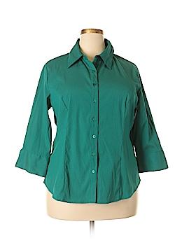 Scott Taylor 3/4 Sleeve Button-Down Shirt Size 1X (Plus)