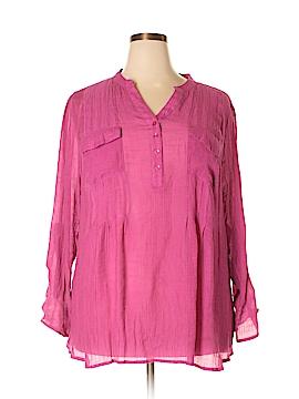 Laura Scott Long Sleeve Button-Down Shirt Size 3X (Plus)