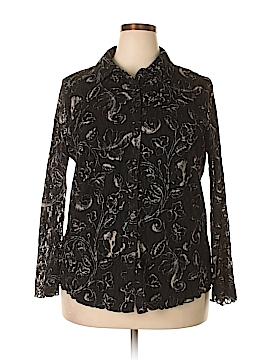 INC International Concepts Long Sleeve Button-Down Shirt Size 2X (Plus)