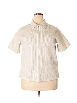 Denim Co Short Sleeve Blouse Size 1X (Plus)