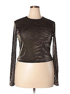 Linda Allard Ellen Tracy Long Sleeve Top Size 16