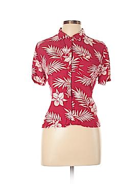 Gloria Vanderbilt Short Sleeve Button-Down Shirt Size M