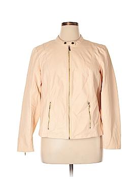 Calvin Klein Faux Leather Jacket Size 1X (Plus)