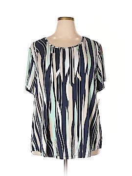 JM Collection Short Sleeve T-Shirt Size 3X (Plus)