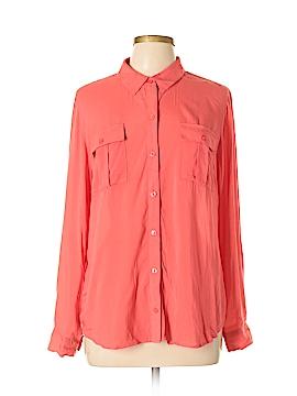 A.n.a. A New Approach Long Sleeve Button-Down Shirt Size XL (Petite)