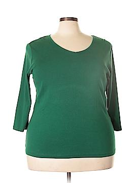 St. John's Bay 3/4 Sleeve T-Shirt Size 1X (Plus)