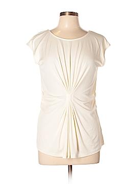 Lafayette 148 New York Short Sleeve Silk Top Size S
