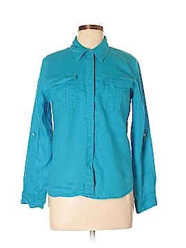 INC International Concepts Long Sleeve Button-Down Shirt Size 10