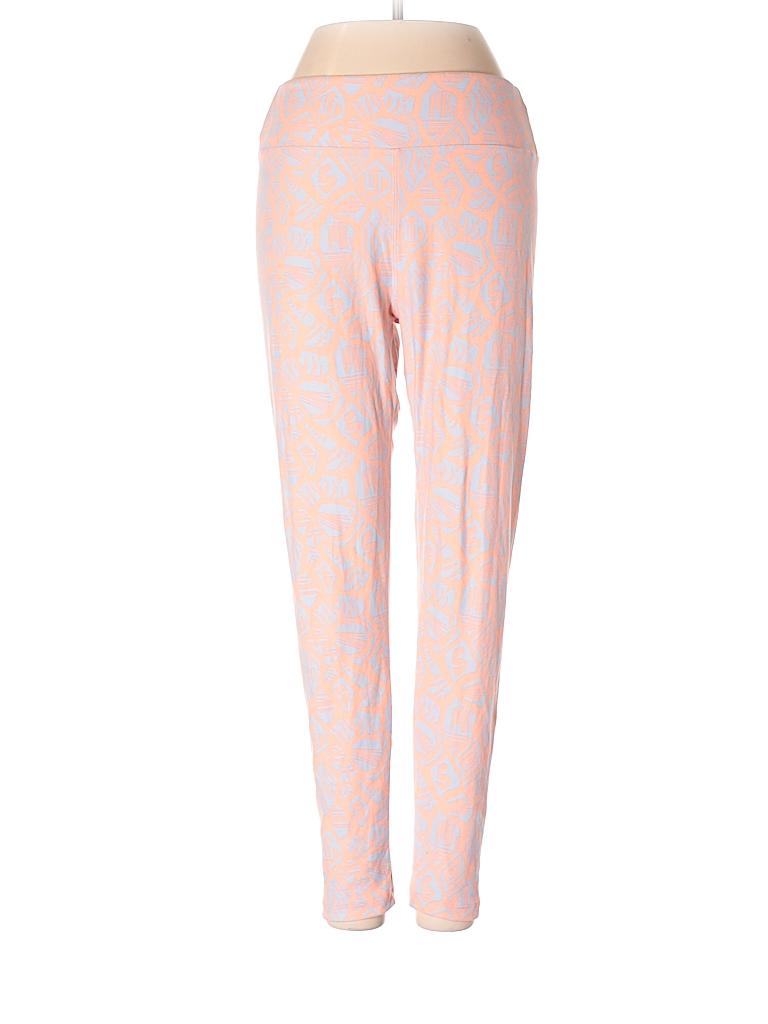 71d6e9efbd7d3f Lularoe Print Light Pink Leggings One Size - 84% off | thredUP