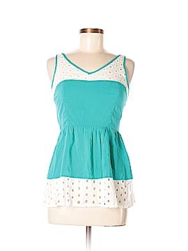Marine Blu Sleeveless Blouse Size M