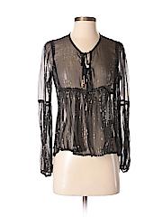 Auguste Women Long Sleeve Silk Top Size 2