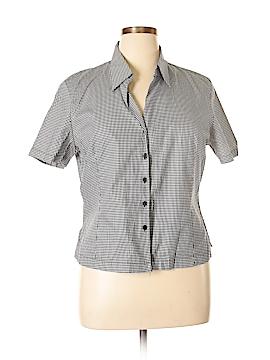 Jaeger Short Sleeve Button-Down Shirt Size 14