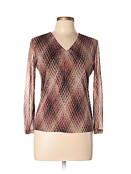 Anne Klein Long Sleeve Silk Top Size M