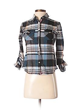 Papaya 3/4 Sleeve Button-Down Shirt Size S