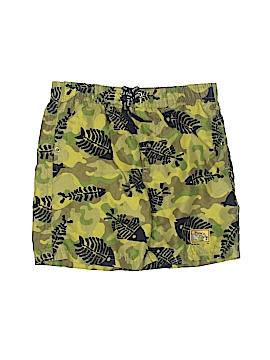 Plaid Fish Board Shorts Size 4T