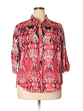 Jones New York Sport 3/4 Sleeve Button-Down Shirt Size XL