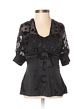 Arden B. Short Sleeve Silk Top Size XS