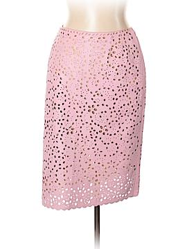 Oscar De La Renta Leather Skirt Size 12