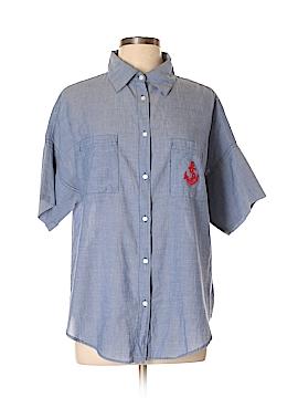 Sundry Short Sleeve Button-Down Shirt Size Med (2)