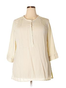 E.col.o.gie 3/4 Sleeve Button-Down Shirt Size XL