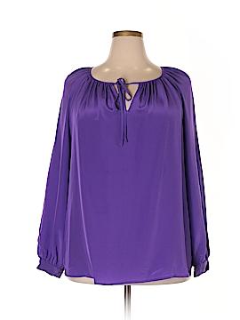 Lauren by Ralph Lauren Long Sleeve Silk Top Size 18W (Plus)