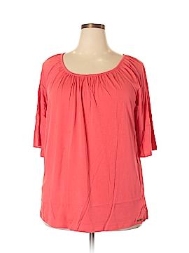 Michele Michelle Short Sleeve Top Size 1X (Plus)