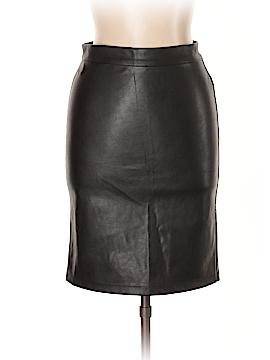 Iris Los Angeles Faux Leather Skirt Size M