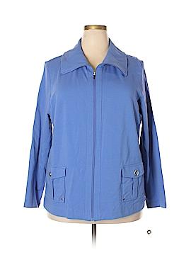 Karen Scott Sport Track Jacket Size 2X (Plus)