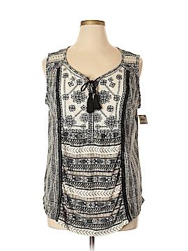 Style&Co Sleeveless Button-Down Shirt Size 1X (Plus)