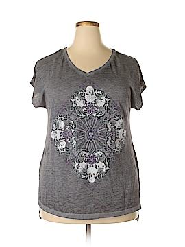 Rock & Republic Short Sleeve Top Size 2X (Plus)