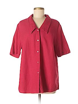 Coldwater Creek Short Sleeve Button-Down Shirt Size L
