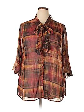 Catherines 3/4 Sleeve Blouse Size 2X (Plus)