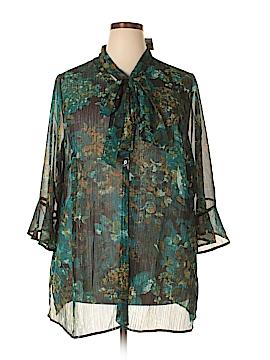 Catherines 3/4 Sleeve Blouse Size 3X (Plus)
