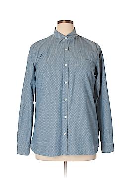Weatherproof Long Sleeve Button-Down Shirt Size L