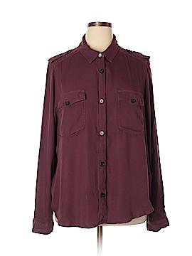 Mudd Long Sleeve Button-Down Shirt Size 1X (Plus)