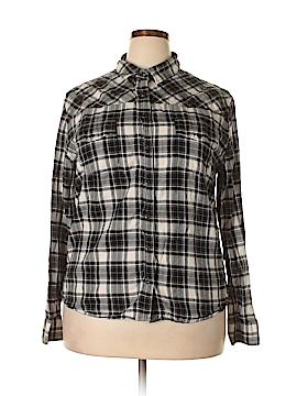 Jach's Girlfriend Long Sleeve Button-Down Shirt Size 2X (Plus)