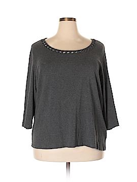 Karen Scott 3/4 Sleeve T-Shirt Size 3X (Plus)