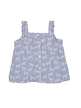 Gymboree Sleeveless Button-Down Shirt Size 6