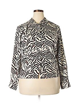 Preston & York Long Sleeve Button-Down Shirt Size 16