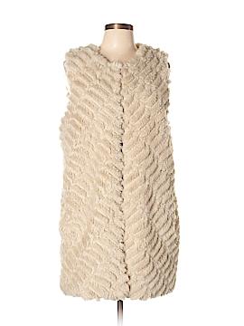 BB Dakota Faux Fur Vest Size L