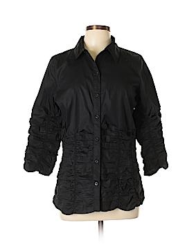 Metrostyle Long Sleeve Button-Down Shirt Size 14
