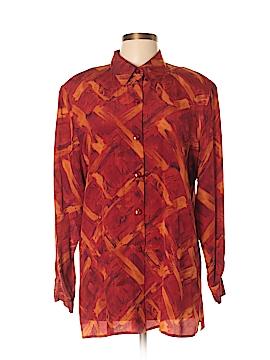 Gianni Long Sleeve Silk Top Size 14