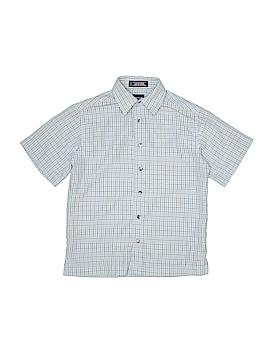 Arrow Short Sleeve Button-Down Shirt Size 8