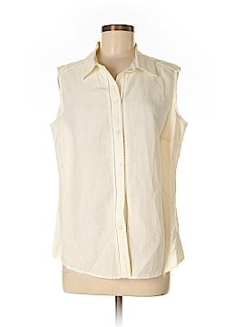 Monterey Bay Clothing Company Sleeveless Button-Down Shirt Size 12