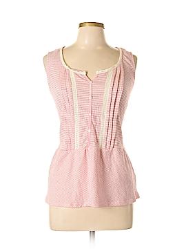 Vintage America Blues Sleeveless Button-Down Shirt Size L
