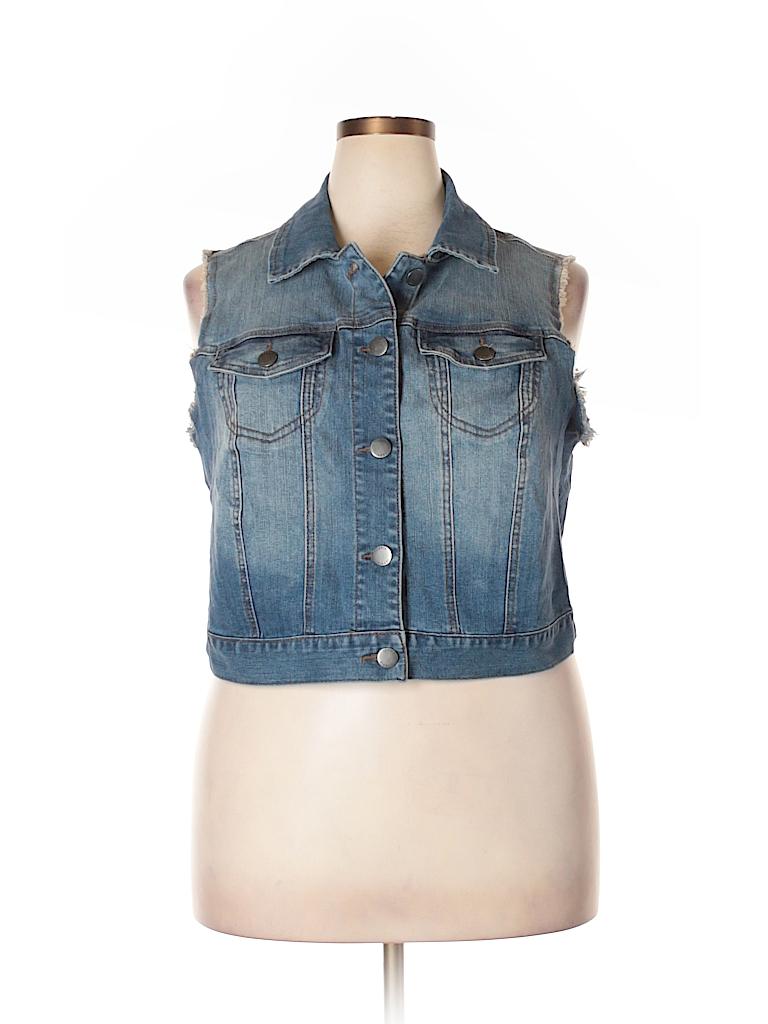578efa4b933 Torrid Solid Dark Blue Denim Vest Size 2X Plus (2) (Plus) - 68% off ...