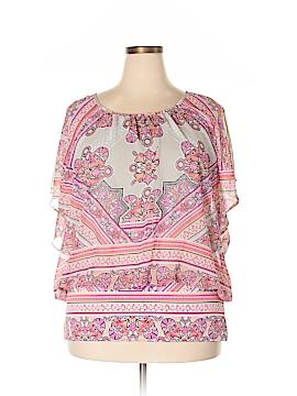 JM Collection Short Sleeve Blouse Size 3X (Plus)