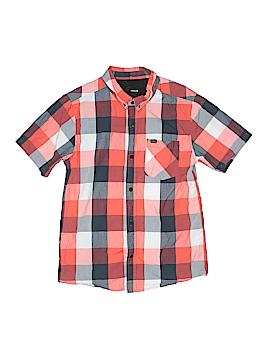 Hurley Short Sleeve Button-Down Shirt Size L (Kids)