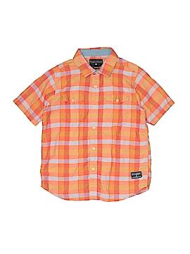 Billabong Short Sleeve Button-Down Shirt Size L (Kids)