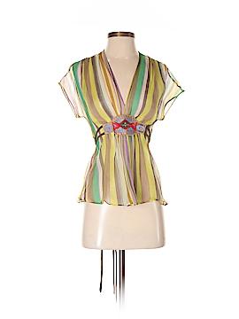 ETRO Short Sleeve Silk Top Size 40 (IT)